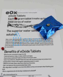 TABLETA EFERVESCENTA DEZINFECTIE APA CLOR DIOXID eOxide
