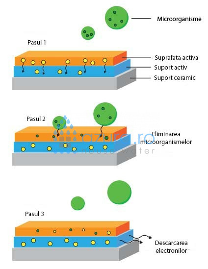 Explicatie grafica functionare Clairify Quantul Disinfection